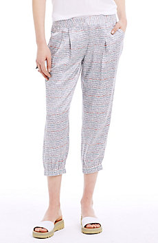 Pleated & Cropped Jogger Pant