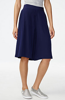 Silk Pull-On Culotte