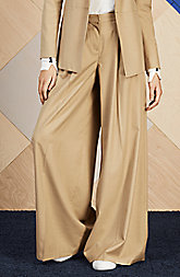 Wide-Leg Pleated Trouser