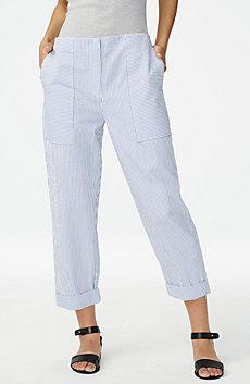 Clean-Front Seersucker Pant