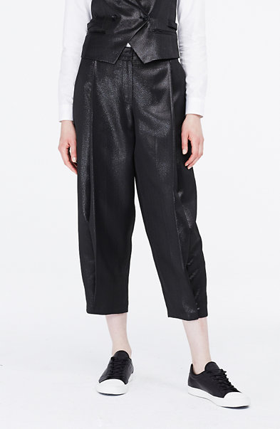 Metallic Cropped Pant