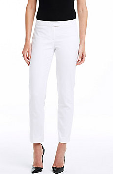 Stretch Cotton Cropped Pant