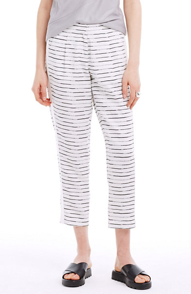 Striped Tencel & Linen Pants