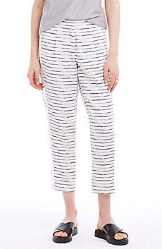 Striped Tencel & Linen Pants