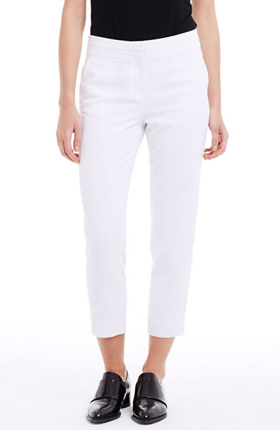 Cropped Crepe Trouser Pant