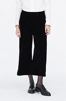 Cropped Velvet Pant