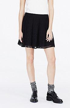 Lace Overlay Miniskirt