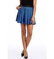 Triangle Print Mini Skirt