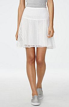 Lace Flounce Miniskirt