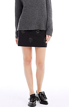 Embellished Mini Skirt