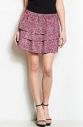 Printed Tiered Mini Skirt<br>Online Exclusive