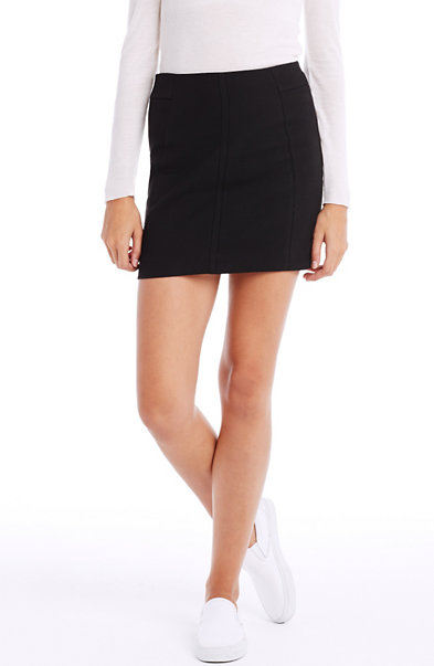 Seamed Mini Skirt