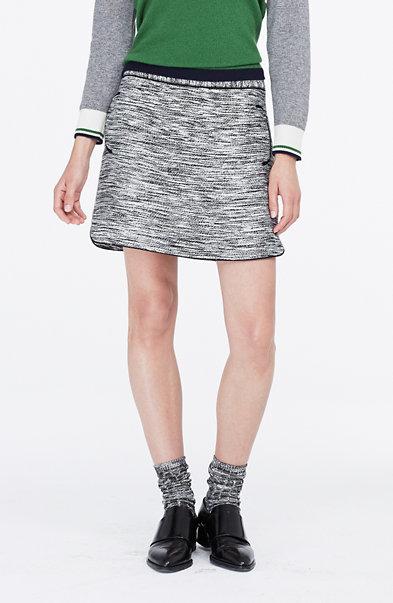Space-Dyed Tweed Skirt