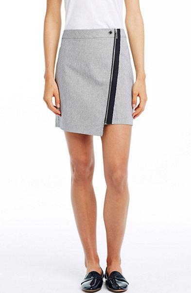 Stripe Moto Mini Skirt