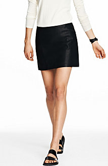 Faux Leather Mini Skirt<br>Online Exclusive