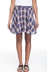 Plaid Swing Mini Skirt