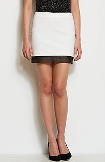 Perforated Trim Skirt