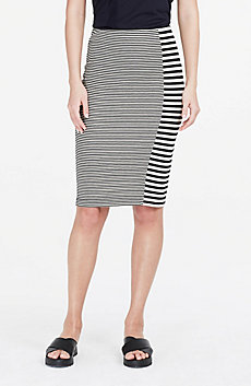 Spliced Stripe Skirt