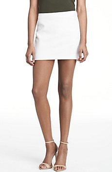Straight Cut Mini Skirt