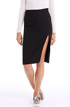 Seamed Midi Skirt