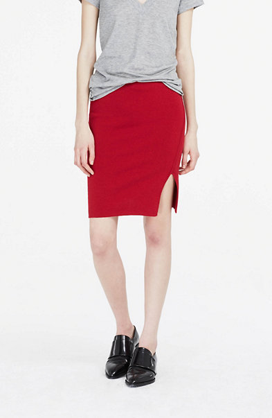 Wool Blend Sweater Skirt