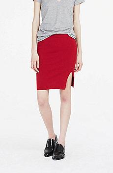 Wool Blend Sweater Skirt