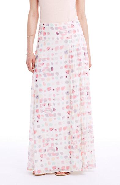 Petal Print Maxi Skirt