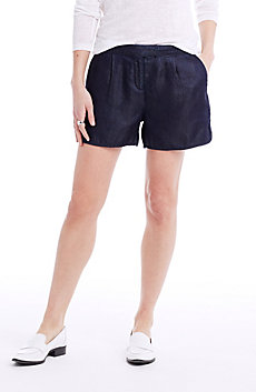 Dark Indigo Drape Short