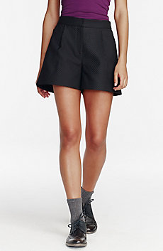 High-Waisted Pleated Short