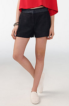 Pieced Tweed Short