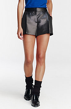 Pleated Metallic Short