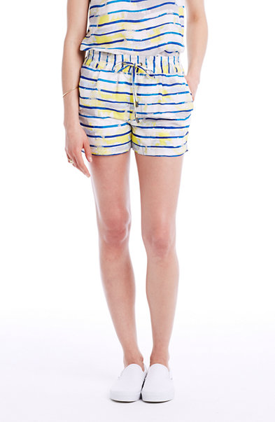 Painterly Stripe Short