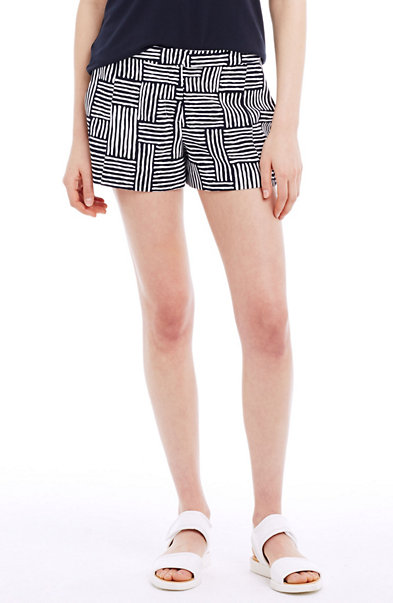 Printed Crepe Trouser Shorts