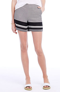 Striped Crepe Short
