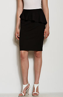Ponte Peplum Skirt<br>Online Exclusive