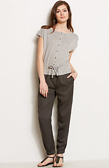 Tie Waist Twofer Jumpsuit<br>Online Exclusive