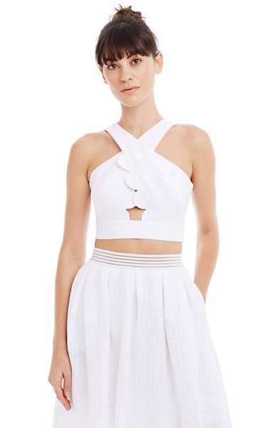 Scalloped Crop Top