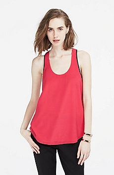 Silk Racerback Tank Top