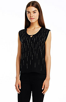 Sleeveless Embellished Tee<br> Online Exclusive<br>