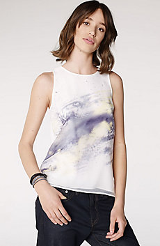 Watercolor Organza Tank