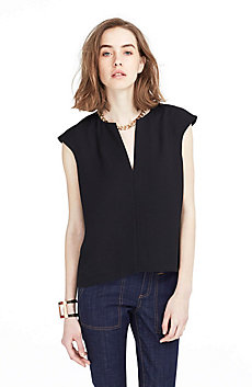 Textured Splitneck Blouse