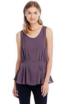 Sleeveless Pleated Shell