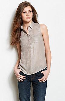 Cutout Sleeveless Blouse