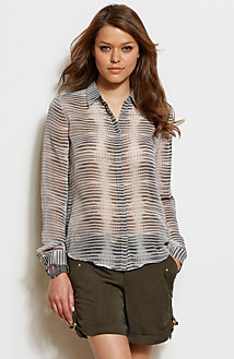 Snake Printed Blouse<br>Online Exclusive