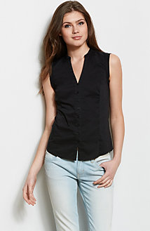 Sleeveless Seamed Blouse<br>Online Exclusive