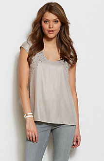 Embellished Drapey Top<br>Online Exclusive