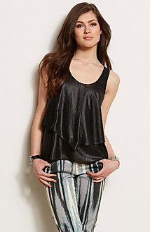Shiny Tiered Tank<br>Online Exclusive