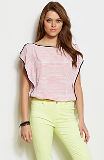 Slouchy Flutter Sleeve Top