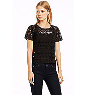 Cropped Lace Tee