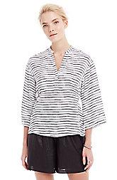 Striped Henley Shirt